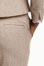Suit trousers - Beige/Checked - Ladies | H&M CN 3