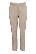Suit trousers - Beige/Checked - Ladies | H&M CN 2