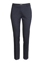Suit trousers - Dark blue/Patterned - Ladies | H&M CN 3