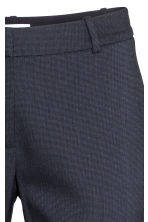 Suit trousers - Dark blue/Patterned - Ladies | H&M CN 4