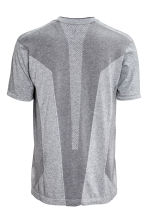 Seamless sports top - Grey marl - Men | H&M CN 3
