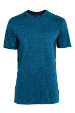 Top training sans coutures - Bleu chiné - HOMME | H&M CH 2