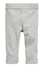 Jersey trousers - Grey marl -  | H&M 1