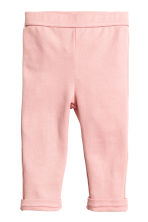 Jersey trousers - Light pink -  | H&M CA 1