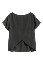 Ampio top con incrocio - Nero - DONNA | H&M IT 3