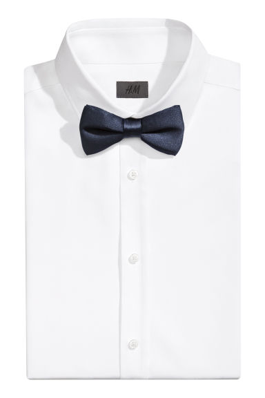 Satin bow tie - Dark blue - Men | H&M