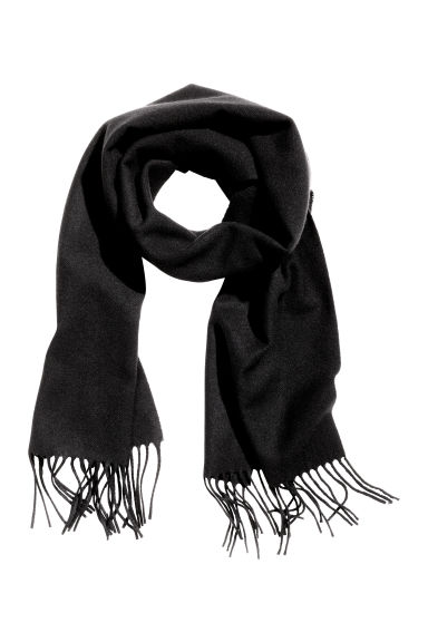 Wool scarf - Dark grey marl -  | H&M GB
