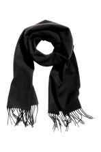 Wool scarf - Dark grey marl -  | H&M 1
