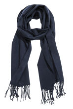 Wool scarf - Dark blue - Men | H&M 1