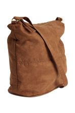 Shoulder bag - Brown/Imitation suede - Ladies | H&M CN 2