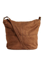 Shoulder bag - Brown/Imitation suede - Ladies | H&M CN 1