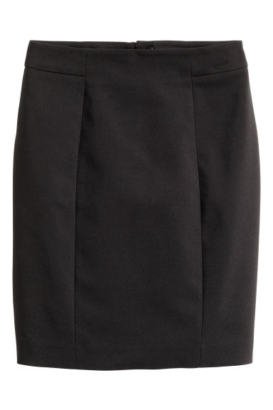 Short pencil skirt - Black - Ladies | H&M GB