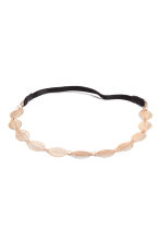 Hairband with metal leaves - Rose gold - Ladies | H&M CN 1
