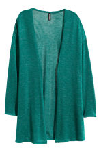 Fine-knit cardigan - Emerald green - Ladies | H&M CN 2