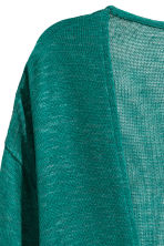Fine-knit cardigan - Emerald green - Ladies | H&M CN 3