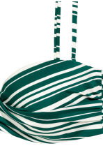 Bikini top - Emerald green/Striped - Ladies | H&M CN 4