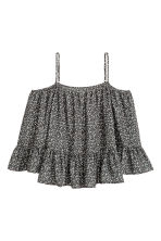 Off-the-shoulder blouse - Dark mole/Floral - Ladies | H&M CN 2