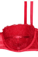 Lace balconette bra - Red - Ladies | H&M CN 3