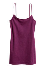 Long jersey strappy top - Burgundy - Ladies | H&M CN 2