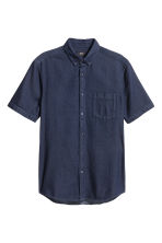 Short-sleeved shirt - Dark denim blue - Men | H&M CN 2