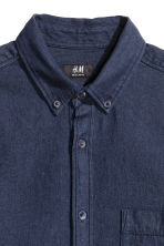 Short-sleeved shirt - Dark denim blue - Men | H&M CN 3