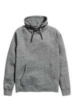 Funnel-collar sweatshirt - Dark grey marl - Men | H&M 2