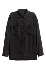 Viscose shirt - Black - Ladies | H&M GB 5