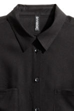 Viscose shirt - Black - Ladies | H&M GB 8