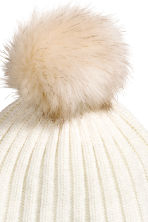Pompom hat - White - Ladies | H&M CN 2