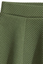 Circular skirt - Khaki green/Textured - Ladies | H&M CN 3