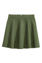 Circular skirt - Khaki green/Textured - Ladies | H&M CN 2
