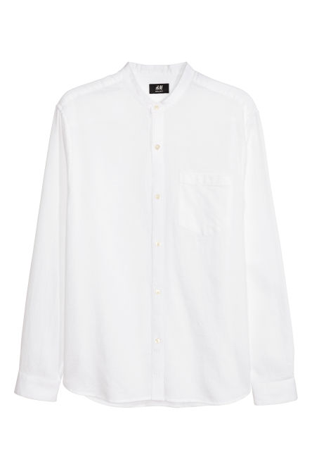 Camicia colletto alla coreana