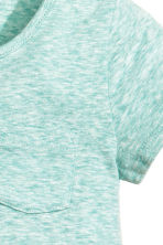 Jersey top - Light turquoise marl - Kids | H&M CN 2