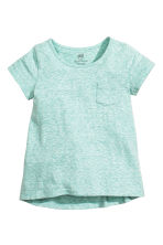 Jersey top - Light turquoise marl - Kids | H&M CN 1
