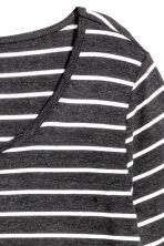 Jersey top - Dark grey/Striped - Ladies | H&M CA 3
