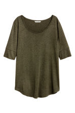 Jersey top - Khaki green marl - Ladies | H&M CN 2