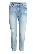 Girlfriend Trashed Jeans - Light denim blue - Ladies | H&M CN 2