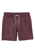 Sweatshirt shorts - Burgundy marl - Men | H&M CN 2