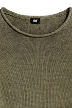 Fine-knit cotton jumper - Khaki green - Men | H&M CN 3