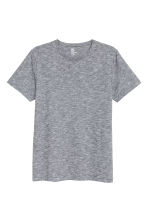 Round-neck T-shirt Slim fit - Grey/Fine stripe - Men | H&M CN 2