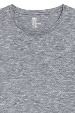 Round-neck T-shirt Slim fit - Grey/Fine stripe - Men | H&M CN 3