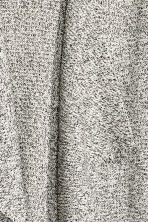 Textured-knit cardigan - Black/White marl -  | H&M 5