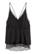 Double-layered lace top - Black - Ladies | H&M CN 2