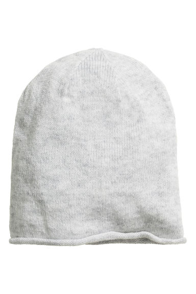 Knitted hat - Light grey marl - Ladies | H&M 1