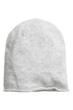 Knitted hat - Light grey marl - Ladies | H&M CN 1