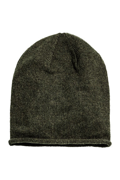 Knitted hat - Dark green - Ladies | H&M CN 1