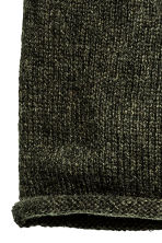 Knitted hat - Dark green - Ladies | H&M CN 2