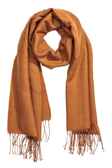 Woven scarf - Camel - Ladies | H&M CN 1