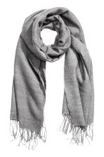 Woven scarf - Grey - Ladies | H&M CN 1