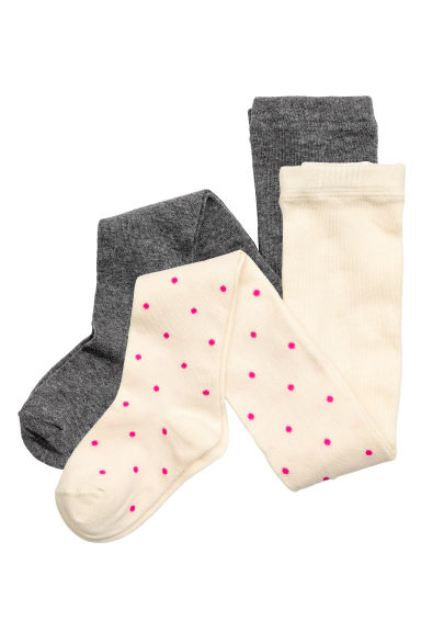 2-pack tights - Dark grey - Kids | H&M CN 1